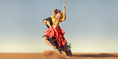 Carmen is a red hot spark, dancing in The Australian desert.