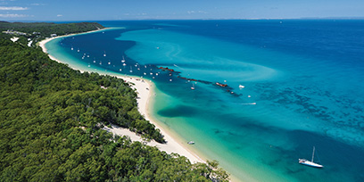 A beach in tropical Queensland