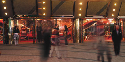 The forecourt of Arts Centre Melbourne