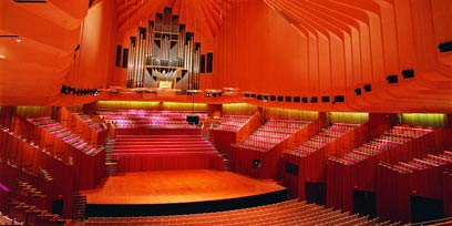 Inside the Concert Hall at Sydney Opera House