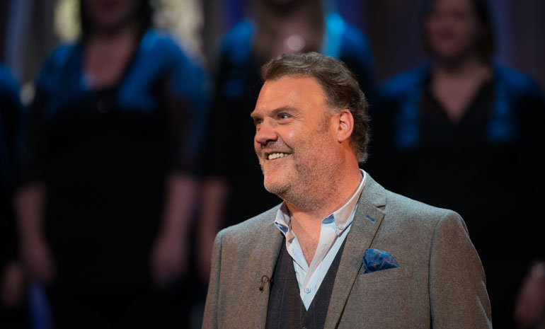 A photo of Bryn Terfel in concert