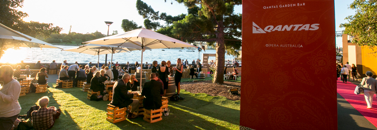 Qantas Garden Bar: a casual garden bar just metres from the harbour's edge.