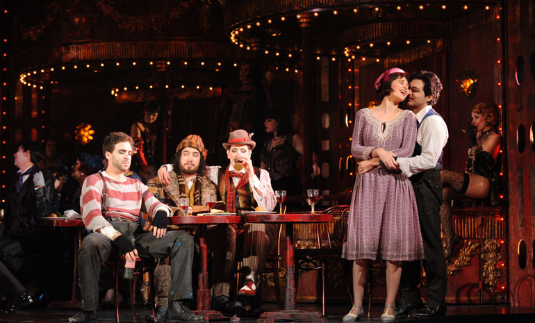 A production image from La Boheme