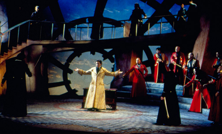 A production photograph from Opera Australia's 2000 production of Simon Boccanegra.