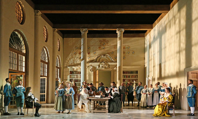 A production image from The Marriage of Figaro