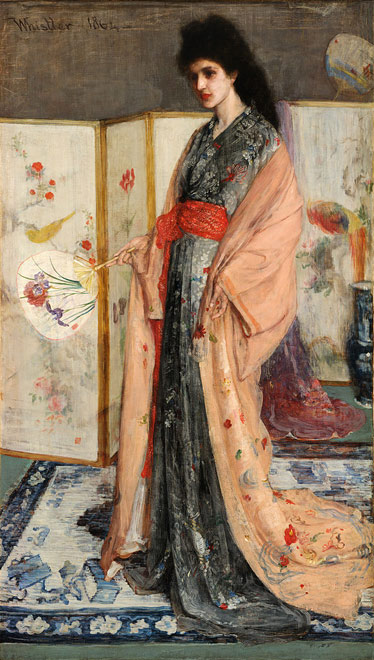 James McNeill Whistler's 'The Princess from the Land of Porcelain', Public Domain.