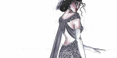 Tosca costume drawings