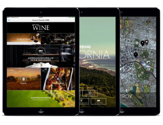 An iPad with an edition of Gourmet Traveller Wine